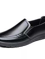 Недорогие -Муж. Комфортная обувь Кожа Осень На каждый день Мокасины и Свитер Дышащий Черный / Коричневый
