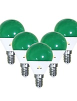 Недорогие -EXUP® 5 шт. 5 W 450 lm E14 Круглые LED лампы G45 12 Светодиодные бусины SMD 2835 Очаровательный / Творчество / Для вечеринок Зеленый 220-240 V / 110-130 V