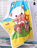 baratos -Flanela, Impressão Reactiva Desenho Animado Flanela Tosão cobertores