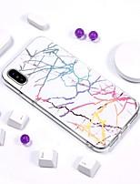 billiga -fodral Till Apple iPhone XR / iPhone XS Max IMD / Mönster Skal Marmor Mjukt TPU för iPhone XS / iPhone XR / iPhone XS Max