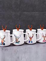 Недорогие -высококачественная рождественская лосиная кружка с крышкой керамическая x'mas партия чай кофе milu олень фарфоровая чашка 4cups / set