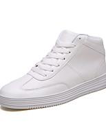 Недорогие -Муж. Комфортная обувь Кожа Осень На каждый день Кеды Дышащий Белый / Черный / Красный