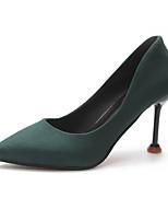 Недорогие -Жен. Балетки Полиуретан Весна Обувь на каблуках На шпильке Черный / Красный / Зеленый
