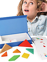 Недорогие -Деревянные пазлы Геометрический узор Cool утонченный деревянный 1 pcs Детские Все Игрушки Подарок