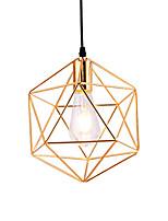 baratos -Estilo moderno galvanizado design padrão geométrico gaiola de metal luz pingente restaurante café pingente lâmpada