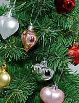 Недорогие -Праздничные украшения Рождественский декор Рождественские украшения Для вечеринок Серебряный / Красный / Розовый 12шт