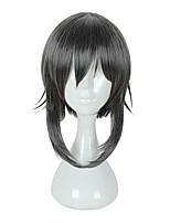 Недорогие -Косплэй парики Косплей Косплей Черный Аниме Косплэй парики 45 дюймовый Термостойкое волокно Универсальные Хэллоуин парики