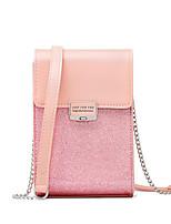 Недорогие -Жен. Мешки PU Мобильный телефон сумка Молнии Черный / Розовый / Серый