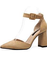 abordables -Femme Chaussures de confort Daim Printemps été Chaussures à Talons Talon Bottier Noir / Kaki