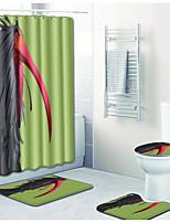 Недорогие -1 комплект Традиционный Коврики для ванны 100 г / м2 полиэфирный стреч-трикотаж Новинки Прямоугольная Ванная комната Творчество