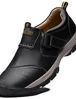 Недорогие -Муж. Кожаные ботинки Кожа Зима Классика / На каждый день Кеды Водостойкий Черный / Кофейный