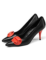 Недорогие -Жен. Балетки Овчина Весна Обувь на каблуках На шпильке Черный