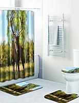 Недорогие -1 комплект Традиционный Коврики для ванны 100 г / м2 полиэфирный стреч-трикотаж Животное Прямоугольная Ванная комната обожаемый