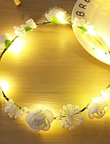 Недорогие -0.2м Гирлянды 10 светодиоды Белый Декоративная Аккумуляторы AA 1 комплект