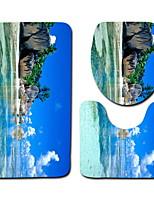 Недорогие -3 предмета Modern Коврики для ванны 100 г / м2 полиэфирный стреч-трикотаж Геометрический принт Прямоугольная Ванная комната Очаровательный