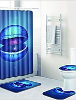 Недорогие -1 комплект Modern Коврики для ванны 100 г / м2 полиэфирный стреч-трикотаж Новинки Прямоугольная Ванная комната Градиент цвета