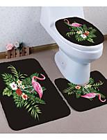 Недорогие -3 предмета Modern Коврики для ванны 100 г / м2 полиэфирный стреч-трикотаж Животное нерегулярный / Прямоугольная Ванная комната Милый