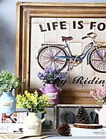 Недорогие -Искусственные Цветы 1 Филиал Классический / Односпальный комплект (Ш 150 x Д 200 см) Деревня / Простой стиль Ваза Букеты на стол