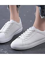Недорогие -Жен. Комфортная обувь Полиуретан Весна & осень Кеды На плоской подошве Белый