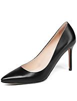 Недорогие -Жен. Комфортная обувь Наппа Leather Весна Обувь на каблуках На шпильке Черный / Желтый / Зеленый