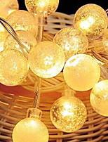 Недорогие -2,5м Гирлянды 20 светодиоды Тёплый белый / Оранжевый Декоративная 220-240 V 1 комплект