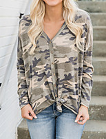 abordables -Tee-shirt Femme, camouflage Imprimé Basique / Chic de Rue