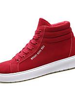 Недорогие -Муж. Комфортная обувь Полиуретан Осень Кеды Серый / Красный / Черно-белый