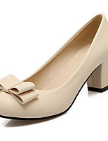 Недорогие -Жен. Комфортная обувь Полиуретан Весна Обувь на каблуках На толстом каблуке Синий