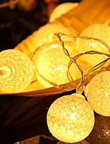 abordables -2m Guirlandes Lumineuses 20 LED Blanc Chaud Décorative Piles AA alimentées 1 set