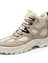 Недорогие -Муж. Армейские ботинки Сатин Наступила зима На каждый день Ботинки Для прогулок Сохраняет тепло Ботинки Белый / Черный
