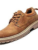 Недорогие -Муж. Комфортная обувь Полиуретан Осень На каждый день Туфли на шнуровке Нескользкий Черный / Желтый / Коричневый