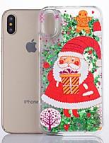 Недорогие -Кейс для Назначение Apple iPhone X Сияние и блеск Кейс на заднюю панель Рождество Твердый пластик для iPhone X