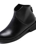 billiga -Dam Fashion Boots PU Vinter Ledigt Stövlar Låg klack Korta stövlar / ankelstövlar Svart
