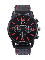 baratos -Homens Relógio Esportivo Quartzo Relógio Casual Silicone Banda Analógico Fashion Preta - Vermelho Verde Azul