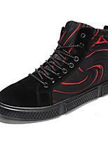"""Недорогие -Муж. Комфортная обувь Искусственная кожа Наступила зима На каждый день / Стиль """"Школьная форма"""" Кеды Водостойкий Черно-белый / Черный / Красный"""