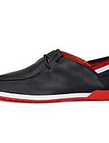 Недорогие -Жен. Комфортная обувь Наппа Leather Осень На плокой подошве На плоской подошве Закрытый мыс Черный / Желтый / Красный