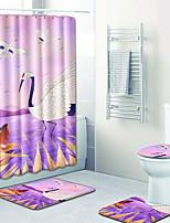 Недорогие -1 комплект Modern Коврики для ванны 100 г / м2 полиэфирный стреч-трикотаж Животное Прямоугольная Ванная комната Новый дизайн