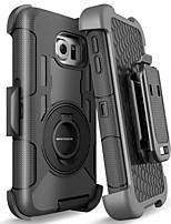 Недорогие -BENTOBEN Кейс для Назначение SSamsung Galaxy S8 Защита от удара / Кольца-держатели / Матовое Чехол Однотонный Твердый Силикон / ПК для S8 / S6