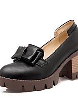 abordables -Femme Chaussures de confort Polyuréthane Automne Chaussures à Talons Talon Bottier Bout fermé Gland Noir / Gris / Amande