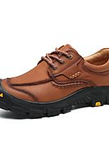 baratos -Homens Sapatos de couro Pele Napa Outono Vintage / Casual Oxfords Manter Quente Café / Marron