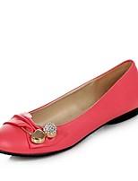Недорогие -Жен. Комфортная обувь Полиуретан Весна & осень Милая На плокой подошве На плоской подошве Круглый носок Стразы Персиковый / Зеленый / Розовый