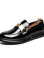 Недорогие -Муж. Комфортная обувь Полиуретан Осень Деловые Мокасины и Свитер Дышащий Золотой / Черный / Синий