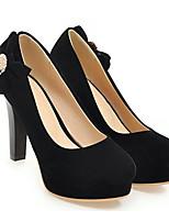 Недорогие -Жен. Комфортная обувь Замша Весна Обувь на каблуках На шпильке Черный / Бежевый / Красный
