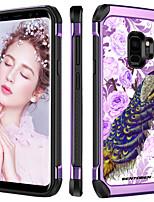 Недорогие -Кейс для Назначение SSamsung Galaxy S9 Защита от удара / Покрытие / С узором Кейс на заднюю панель Растения / Животное / Цветы Твердый ТПУ / ПК для S9