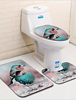 Недорогие -3 предмета Modern Коврики для ванны 100 г / м2 полиэфирный стреч-трикотаж Животное Прямоугольная Ванная комната обожаемый
