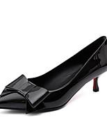 Недорогие -Жен. Комфортная обувь Лакированная кожа Весна Обувь на каблуках На низком каблуке Черный / Красный / Розовый