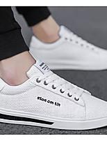 Недорогие -Муж. Комфортная обувь Лён Весна лето Кеды Белый / Черный / Бежевый