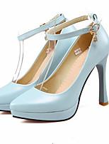 abordables -Femme Escarpins Polyuréthane Printemps Chaussures à Talons Talon Aiguille Beige / Bleu / Rose