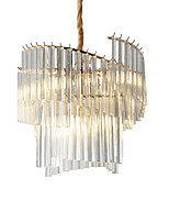 baratos -ZHISHU 8-luz Cilindro Lustres Luz Ambiente Galvanizar Acabamentos Pintados Metal Vidro Cristal, Novo Design 110-120V / 220-240V Branco Quente / Branco Lâmpada Incluída / E26 / E27
