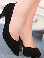 Недорогие -Жен. Комфортная обувь Наппа Leather Осень Обувь на каблуках На шпильке Черный / Красный